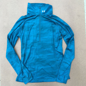 Under Armour ColdGear Cozy Printed 1/2 Zip Teal